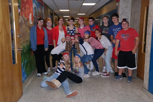 frosh red white blue day