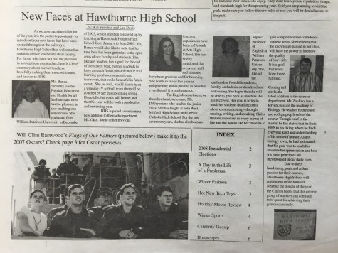 Classic Clarion: New Faces at Hawthorne High School
