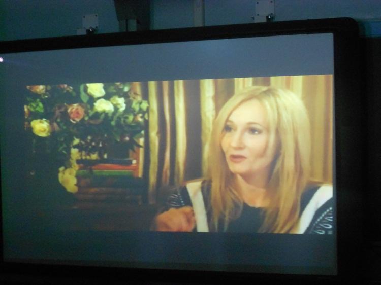J.K. Rowling Visits HHS via Webcast