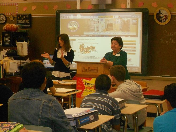 Louis Bay 2nd Library Director Visits Hawthorne High School