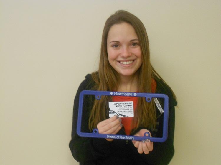 Free Car Wash for Trivia Contest Winner Alyson LaSpisa