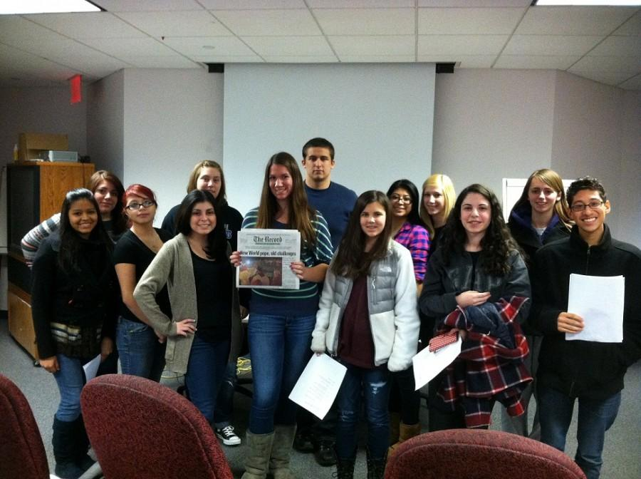 HHS Journalism Field Trip to The Record News
