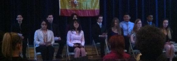 Spanish Honor Society Induction