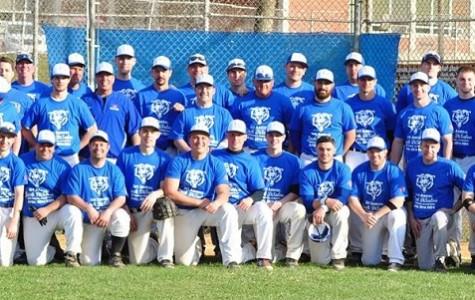 Alumni baseball team at the Jack DiSalvo Alumni Baseball game.