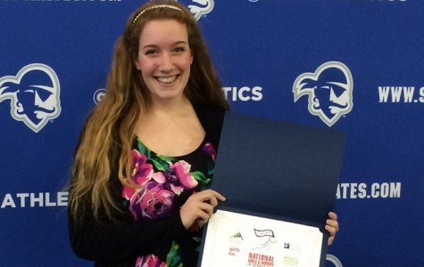 Danielle Hampson Honored with Athletic Award