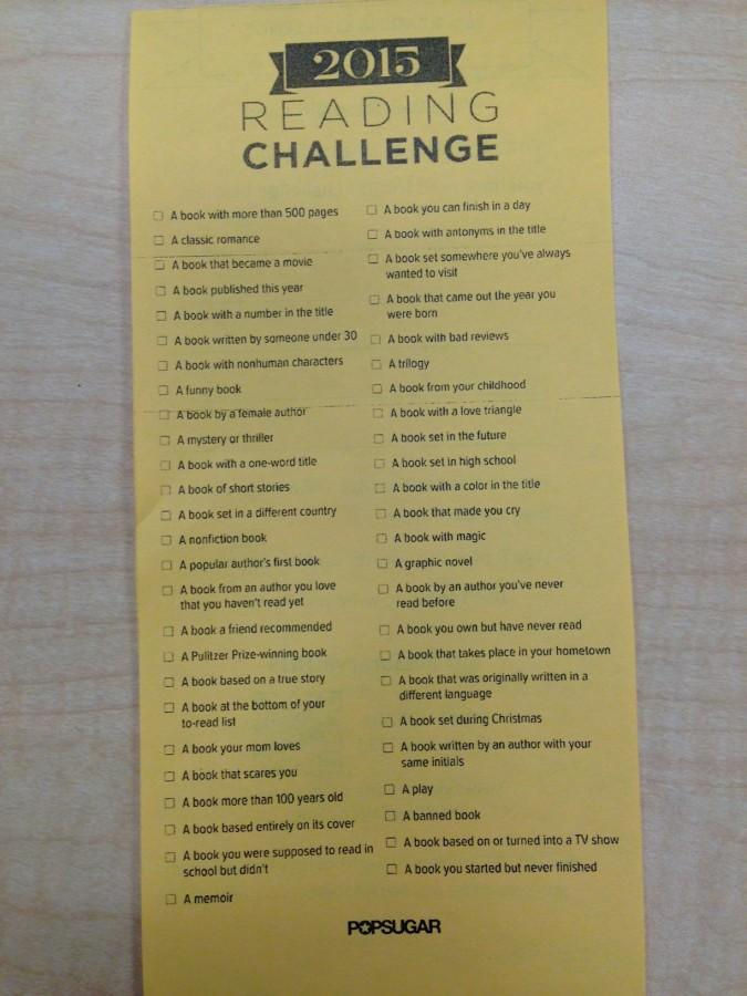 HHS 2015 Reading Challenge: I Dare You to Read