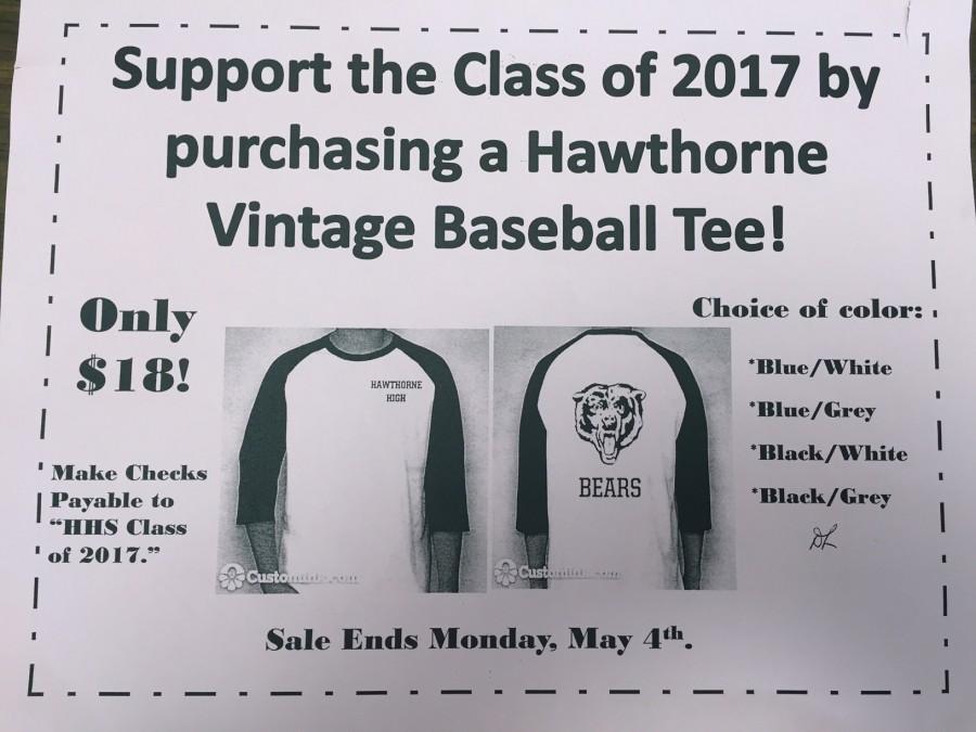 HHS Class of 2017 Vintage Baseball Tee Fundraiser