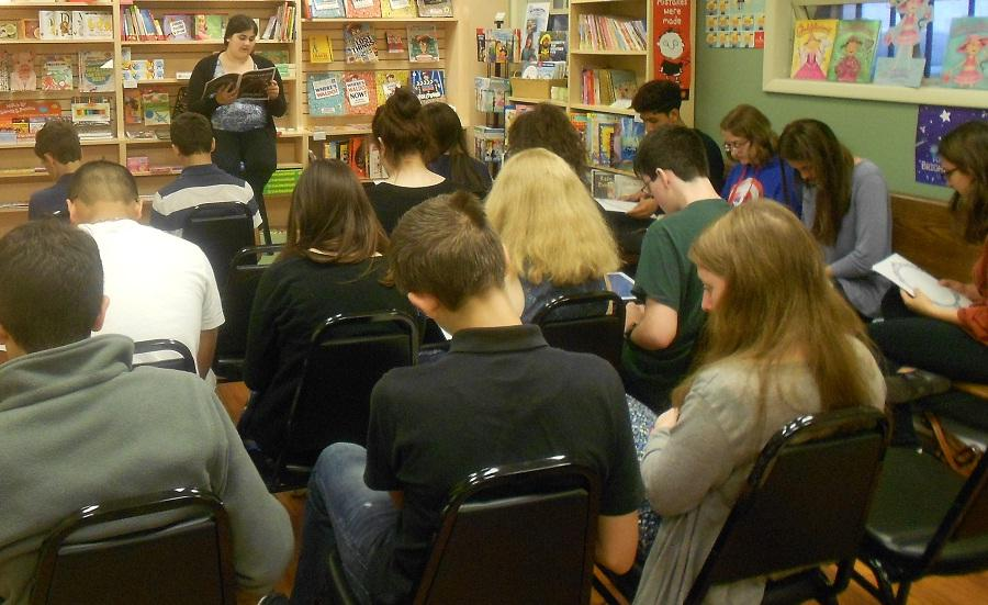 Open-mic at the Empyrean launch party at Well Read Bookstore