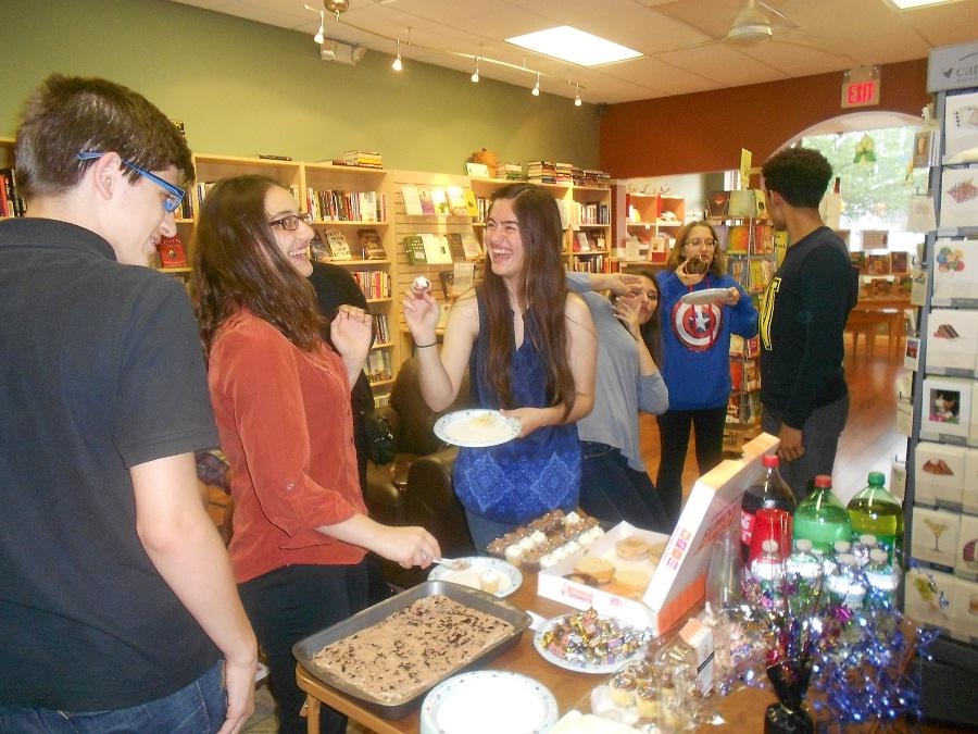 Creative Writing Club members partying at Well Read Bookstore