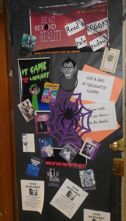 Spooky reading at the HHS Library Media center
