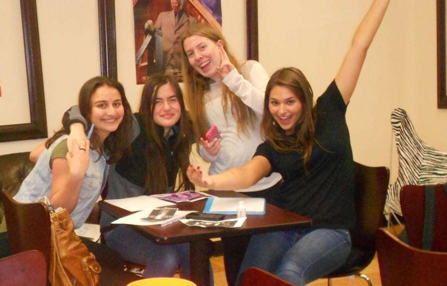 Four members of the HHS Creative Writing Club