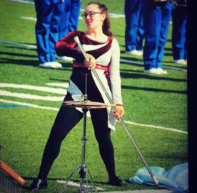 Mackenzie Costello performing color guard.