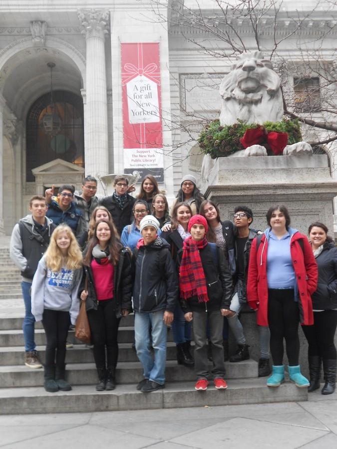 Creative Writing Club members at the NY Public Library