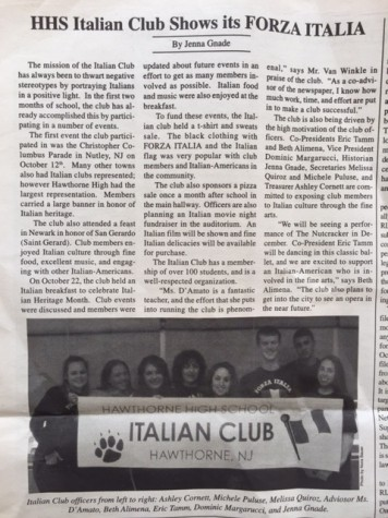 HHS Italian Club Shows its FORZA ITALIA