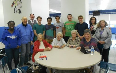 Hawthorne High School Teens and Hawthorne's Senior Citizens Gather Once a Month