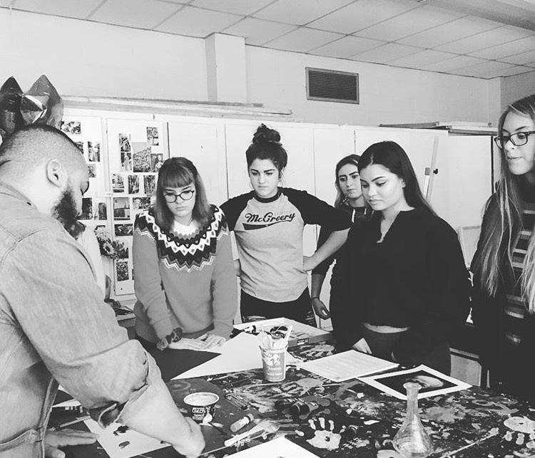 Studio Art Honors Students Welcome Guest Speaker Christian Maya