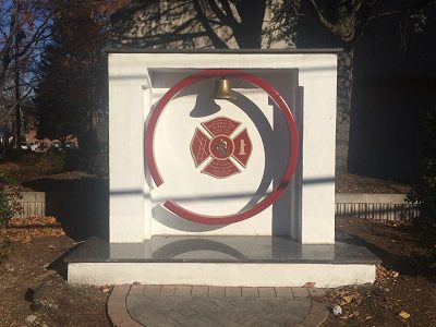 Hawthorne Fire Department Memorial Monument gets a Makeover