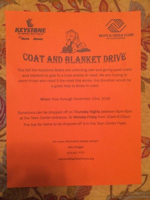 Coat and Blanket Drive: Boys and Girls Club of Hawthorne