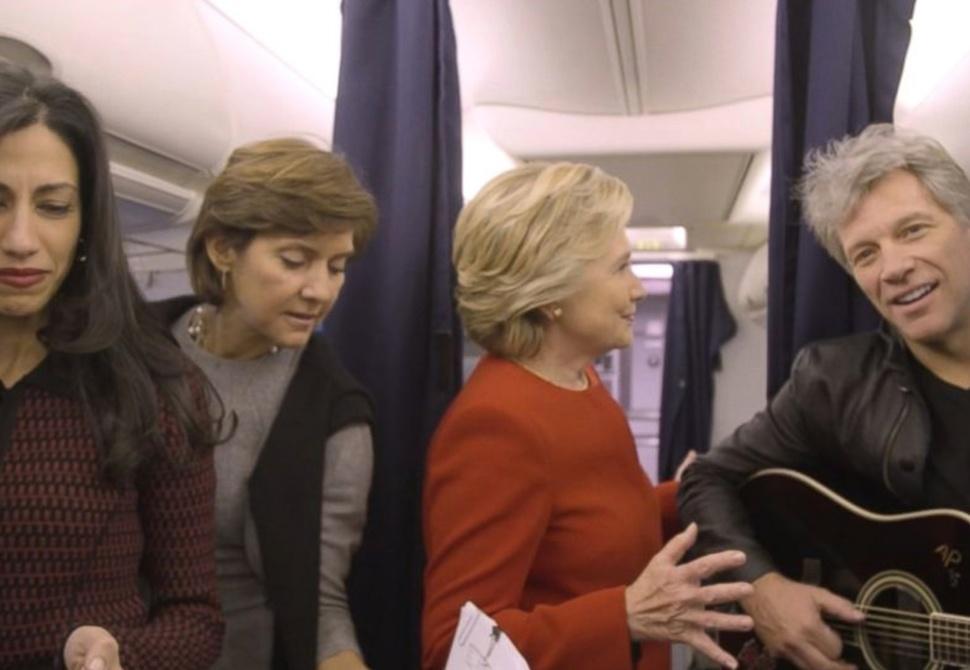 Hillary Clinton and Jon Bon Jovi's Mannequin Challenge