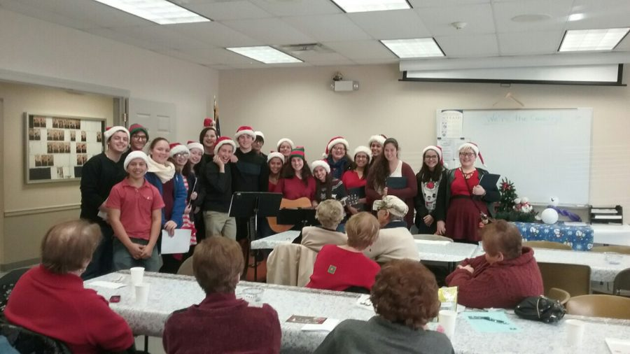 HHS Chamber Choir sings for the senior citizens of Hawthorne