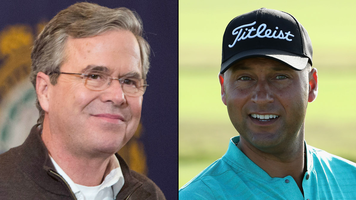 Derek+Jeter+and+Jeb+Bush