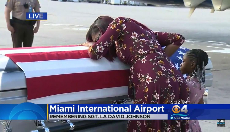 Myeshia Johnson Collapses On Her Fallen Husband's Casket