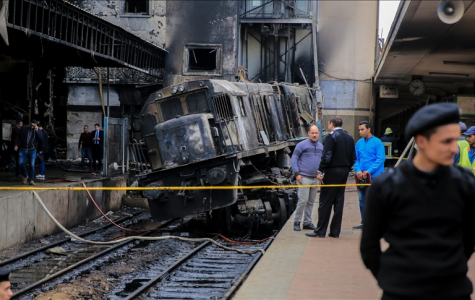 Cairo Train Collision Causes Fire