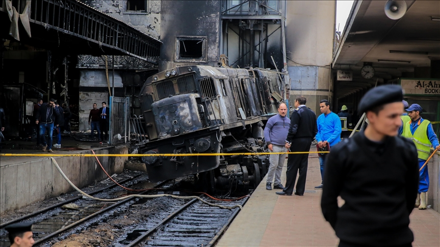 Cairo Train Collision Causes Fire