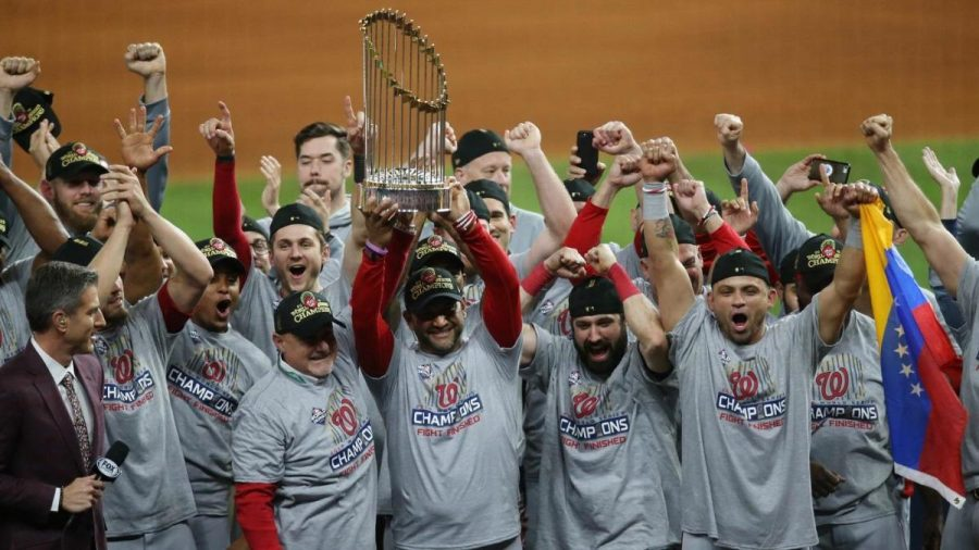 Oct+30%2C+2019%3B+Houston%2C+TX%2C+USA%3B+Washington+Nationals+manager+Dave+Martinez+and+his+team+hoist+the+Commissioners+Trophy+after+defeating+the+Houston+Astros+in+game+seven+of+the+2019+World+Series+at+Minute+Maid+Park.+The+Washington+Nationals+won+the+World+Series+winning+four+games+to+three.++Mandatory+Credit%3A+Thomas+B.+Shea-USA+TODAY+Sports