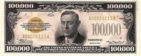Retired U.S. Currency: Big Bucks of American History
